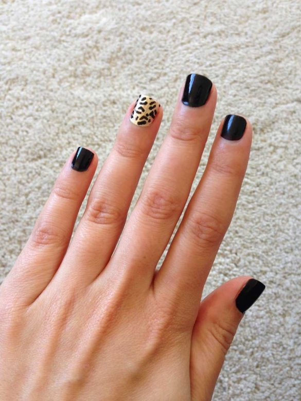 Leopard print nails Beauty and the Beasts