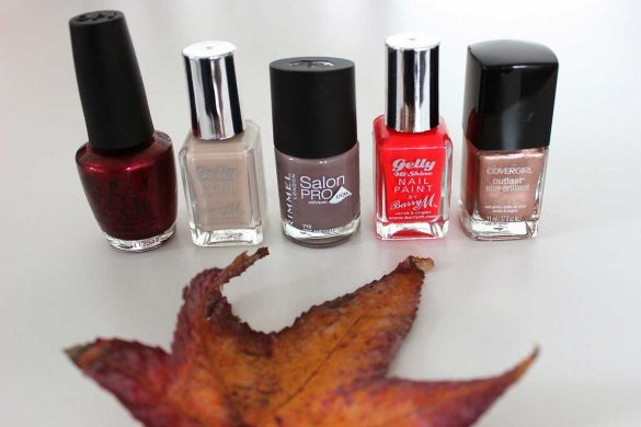 Autumn nail varnish