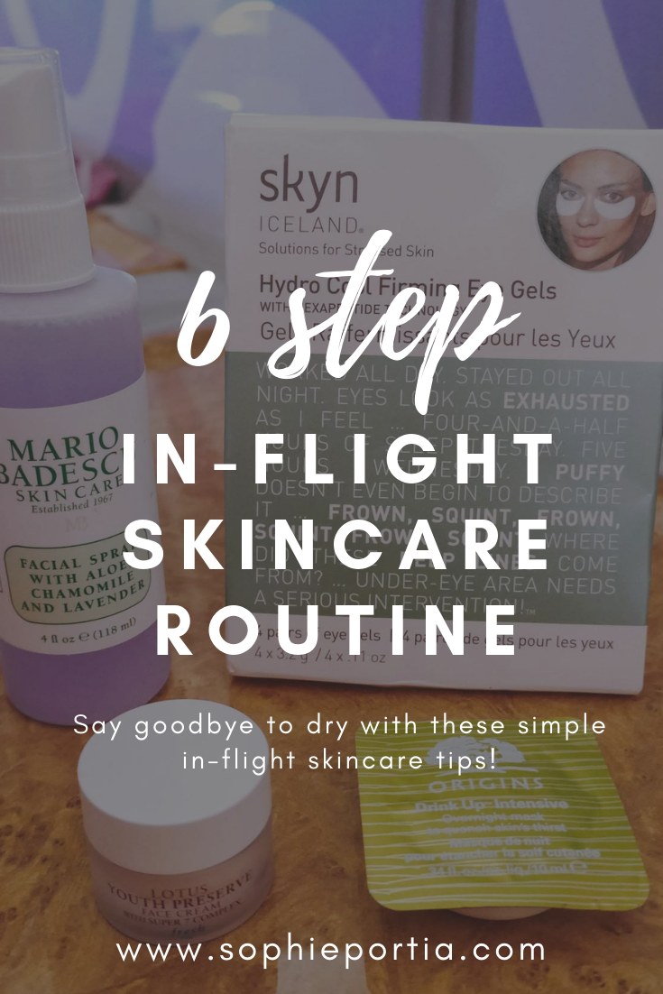 Do long-haul flights send your skin into meltdown? Say goodbye to dry and perfect your in-flight skincare routine using this simple regime.